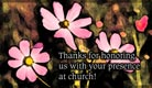 Thank - Presence At Church - Ecard