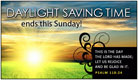 Daylight Saving Time Ends