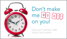 Daylight Saving Time Ends - Ecard