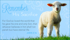 Remember Sacrifice - Ecard