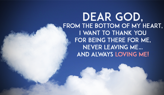 Thank you God for being there!