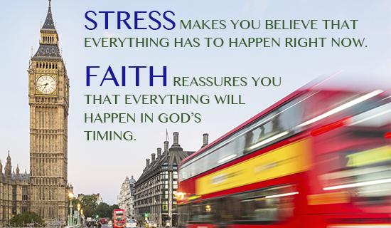 Don't Stress, GOD'S got your back!