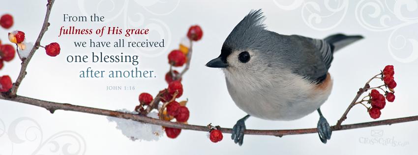 Download John 1:16 - Christian Facebook Cover & Banner