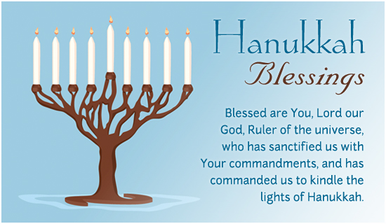 Vibrant image for hanukkah prayer printable