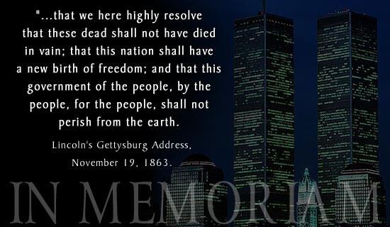 9-11 Lincoln Quote