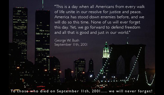 9-11 Bush Quote