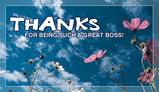 Thanks Great Boss - Ecard
