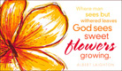 Flowers Growing - Ecard