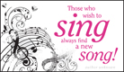Wish to Sing - Ecard