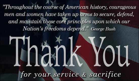 thank you for your services