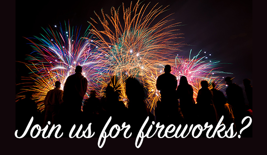 Join Us for Fireworks - Wallpaper