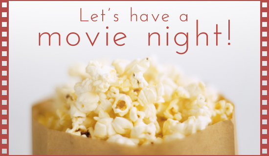Movie Night  - Ecard