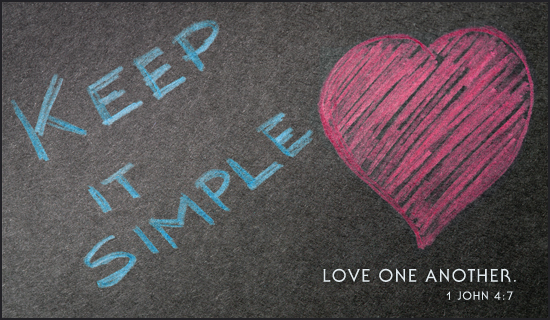 Keep it Simple - Ecard