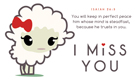 Miss You Lamb - Ecard