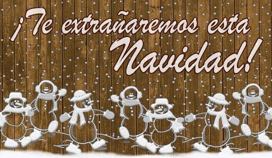 ¡Te extrañaremos esta Navidad!