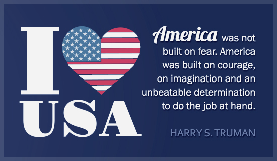 I Love USA - Harry Truman Quote - Wallpaper