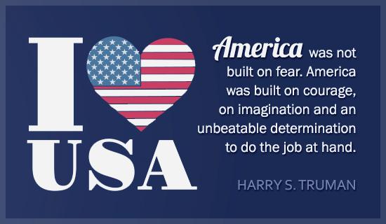 I Love USA - Harry Truman Quote - Wallpaper