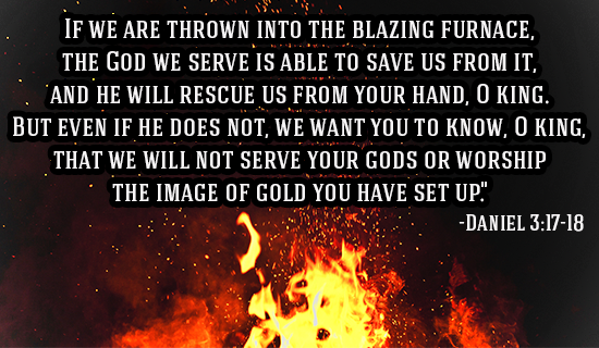 The God we serve is able to SAVE