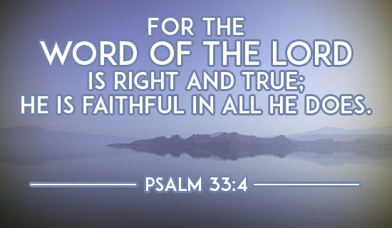 God's Word is Right and True