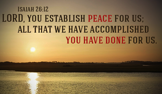God Establishes Peace