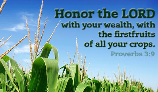 Proverbs 3:9