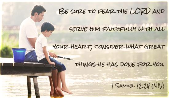 1 Samuel 12:24 NIV