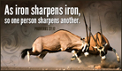 Iron Sharpens Iron - Ecard