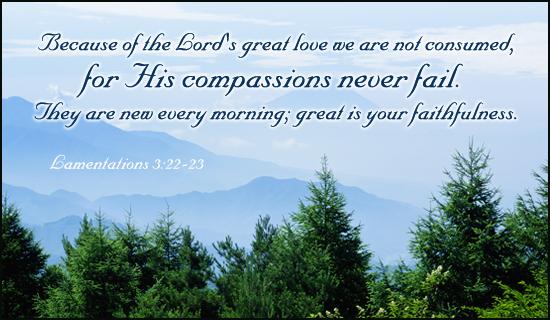 Lam. 3:22-23