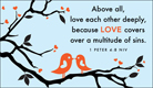 Love - 1 Peter 4:8 NIV - Ecard