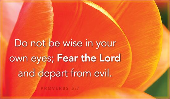 Proverbs 3:7