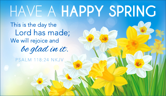 Happy Spring Day Message Have a happy spring ecard