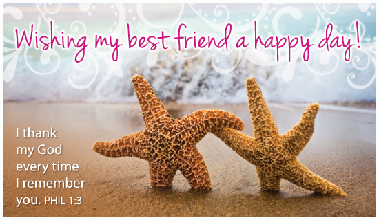 Best Friend Day (6/8) June eCard - Free Christian Ecards ...