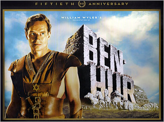 Ben-Hur 50th Anniversary Ultimate Collectors Edition on Blu-ray, DVD Sept 27