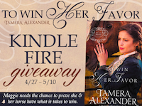 Tamera Alexander is Giving Away a Kindle Fire!
