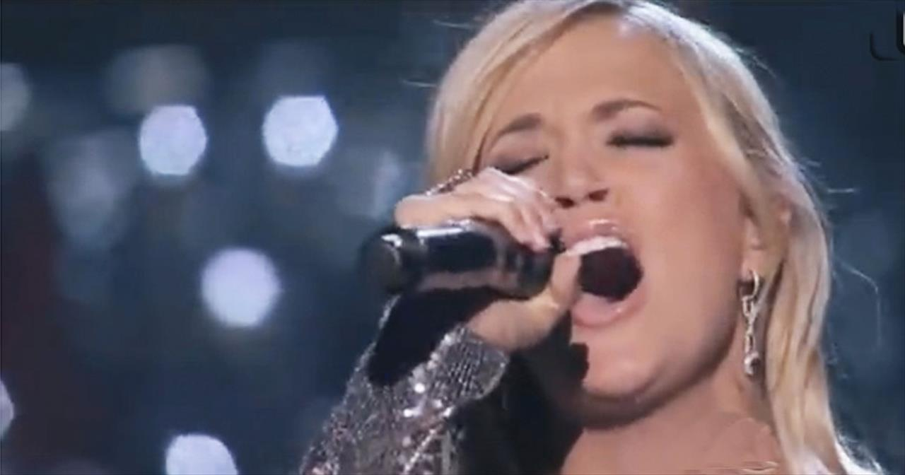 INCREDIBLE performance of How Great Thou Art by Carrie Underwood with Vince Gill