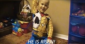 Precious Preschooler Recites The Easter Story
