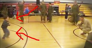 6-Year-Old With Cerebral Palsy Walks To His Marine Father For The First Time