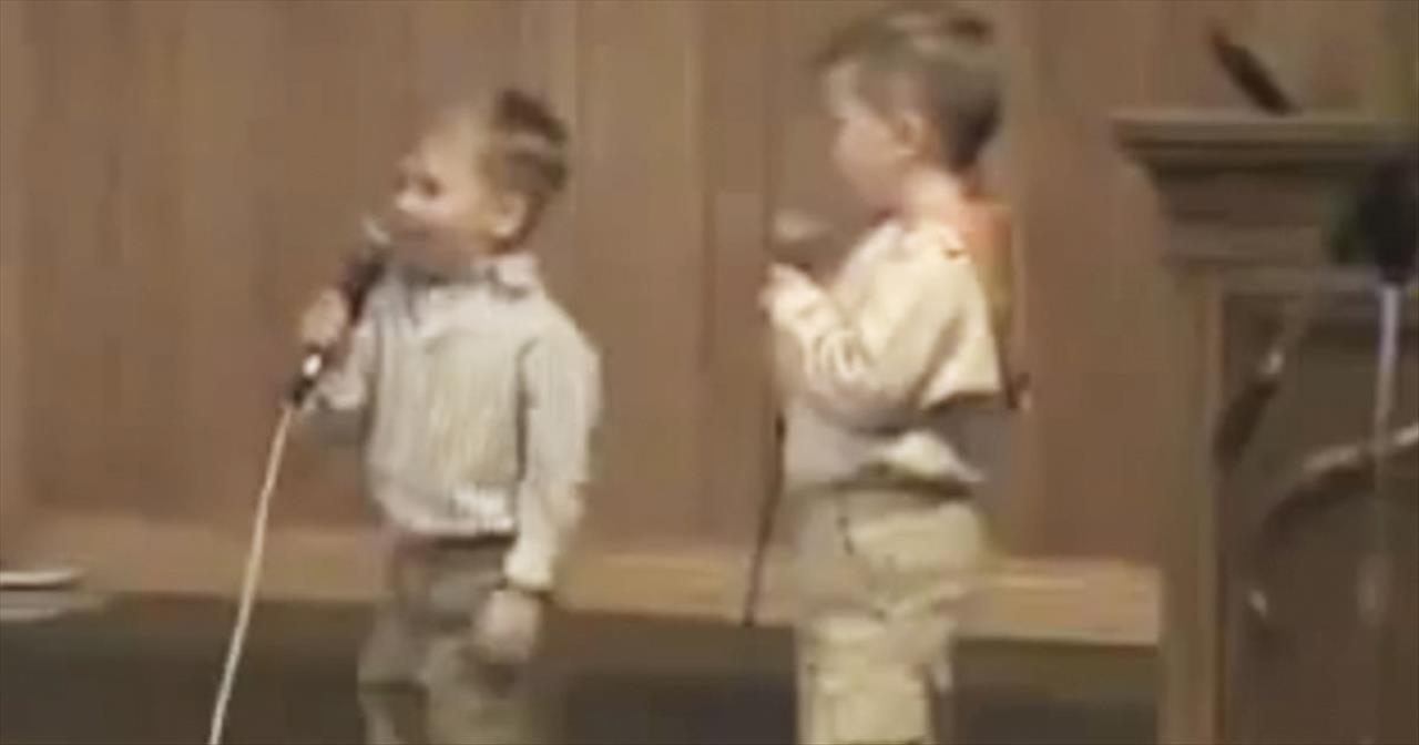 2 ADORABLE Toddlers Sing He Arose - It Will Melt Your He