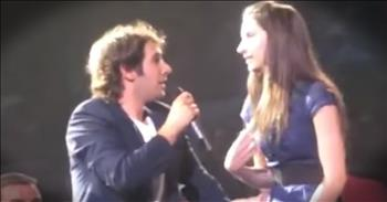 Josh Groban Picks Girl From Audience To Sing A Duet