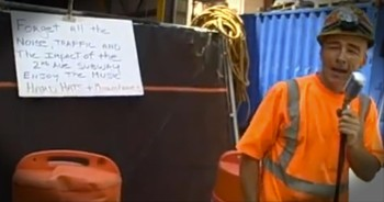 Construction Worker Serenades Passers By - a Welcome Surprise :)
