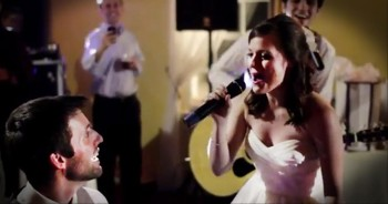 Beautiful Bride Serenades Her New Husband--This is Awesome!!