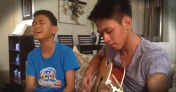 2 Talented Boys Sing God Gave Me You. It Gave