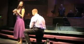 Beautiful Testimony in Church Turns into Surprise Proposal!