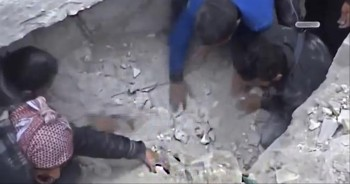 Baby Miraculously Found Alive Under Rubble - a Mir