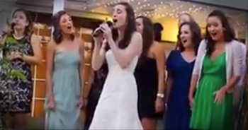 Bride Best Friends Sing an A Cappella Gift for Her Husband - So Beautiful