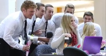 Men Serenade Women with Surprise Valenti