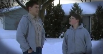 Three Boys Save an Elderly Neighbor Who Fell in Freezing Temperatures