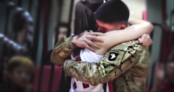 College Ball Player Gets Best Surprise from Her Military Brother - Tears