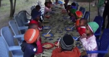 Precious Tanzanian Orphans Always Pray this Prayer in Unison Before Meal-Time