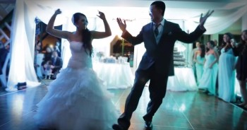 Couple Surprises Guests with an Awesome Wedding Dance that Ends BIG!